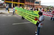 Protesta  de Sindicalistas en Cúcuta