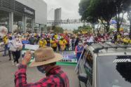 Pese a acuerdo pactado, en Bucaramanga no cumplieron con los protocolos de bioseguridad en el Paro Nacional
