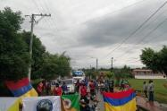 Protestas en la vía Tibú