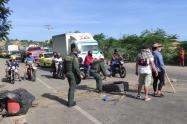 Transportadores mantenían bloqueada la vía a Cúcuta