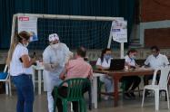 La Secretaría de Salud dispuso de un equipo para la toma de pruebas.