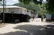 Puesto de Policía en Tibú