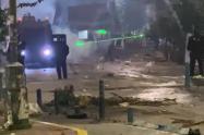 Disturbios en Bucaramanga el 7 de agosto