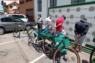 Las bicicletas pretendían enviarse a Bogotá