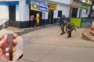 Una granada fue lanzada en contra del Ejército y la Policía