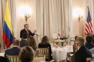 Presidente Iván Duque, en su visita de trabajo en Estados Unidos