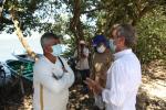 Ministro de Ambiente, Carlos Correa con la comunidad de la Ciénaga de Mallorquín.