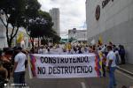 Así avanza la marcha del silencio por las principales calles de Bucaramanga