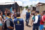 Autoridades hicieron presencia en la zona de las inundaciones