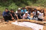 El fósil mide 1.86 metros