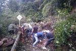 Deslizamientos por cierre en la vía Curos - Málaga