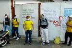 Protesta de obreros en el HUS