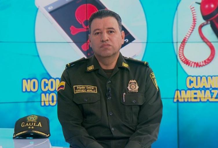 General Fernando Murillo, director antisecuestro Policía Nacional