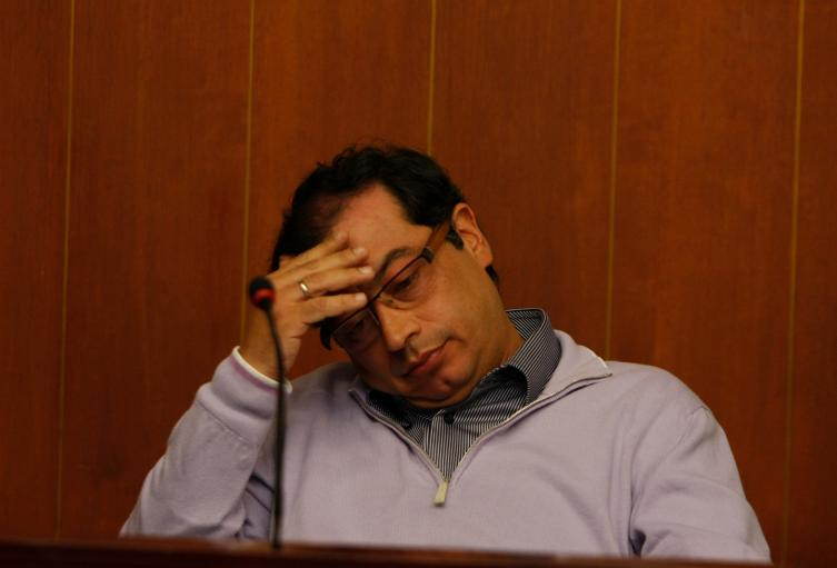 El senador Gustavo Petro