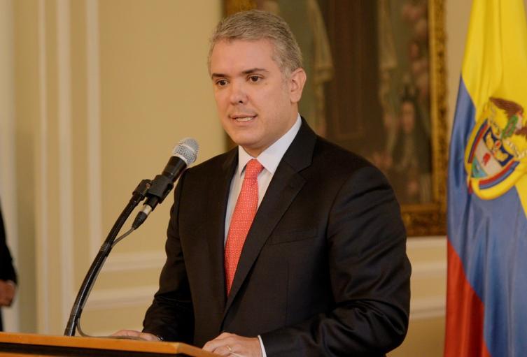 Presidente Iván Duque en la Casa de Nariño