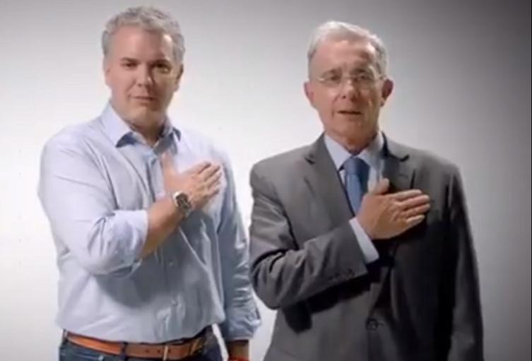 Iván Duque y Álvaro Uribe Vélez