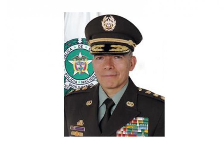 Director Policía Nacional, Gral. Oscar Atehortúa Duque.