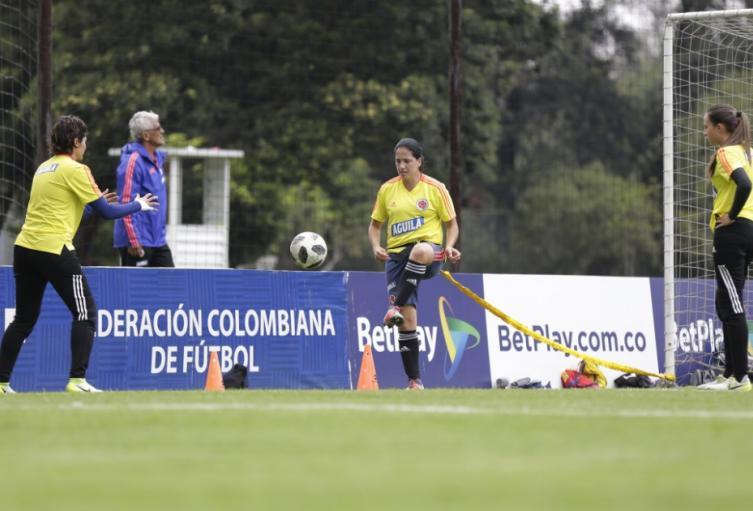 Selección Colombia Femenina- entrenamiento