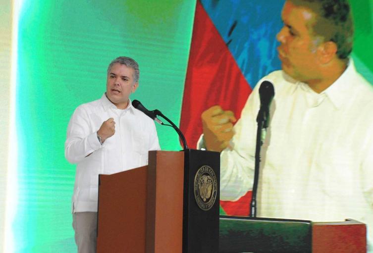 Presidente Iván Duque, en la clausura del Congreso Nacional de Minería