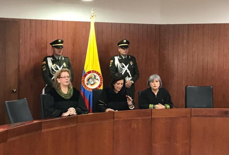 Presidenta de la Corte Constitucional, Gloria Ortíz.