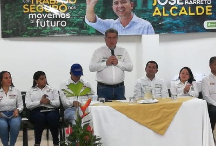 Ratificaron respaldo político a José Barreto Castillo