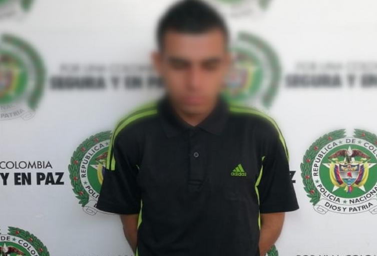 El joven fue capturado y dejado a disposición de las autoridades