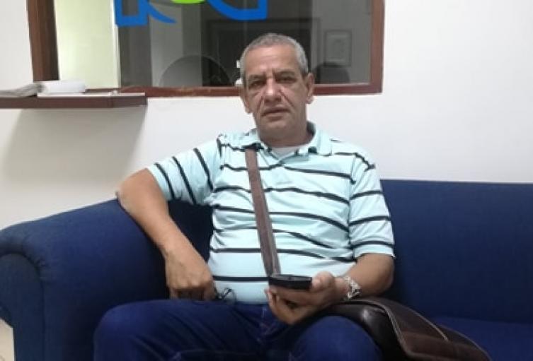 Efraín Sánchez Vicepresidente de la CUT denunció que fue arrestado irregularmente por la Policía