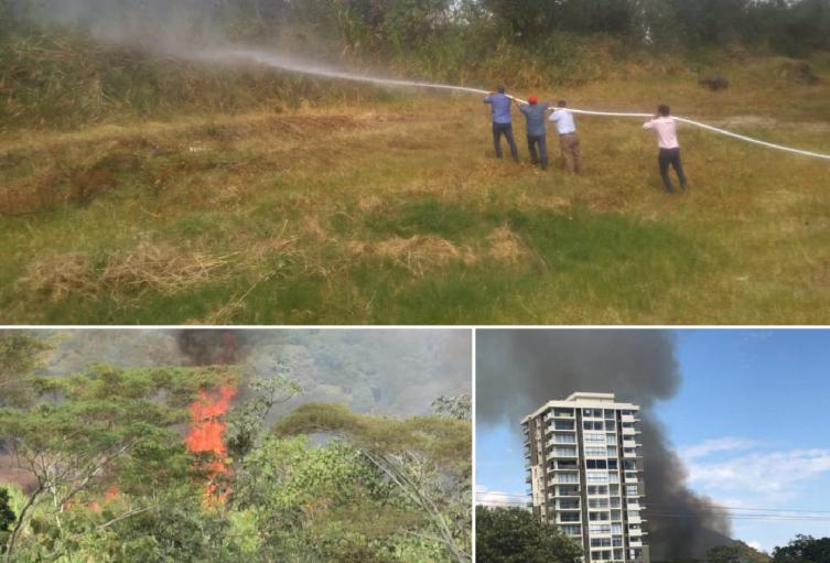 Los habitantes de este sector fueron los primeros en reaccionar contra las llamas