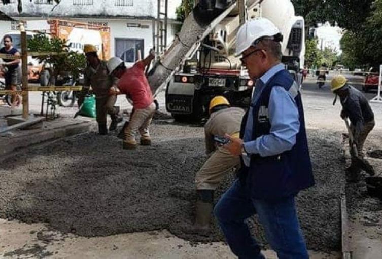 Pavimentación de vías en El Espinal