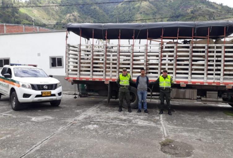Por conducir con una licencia falsa fue capturado un camionero