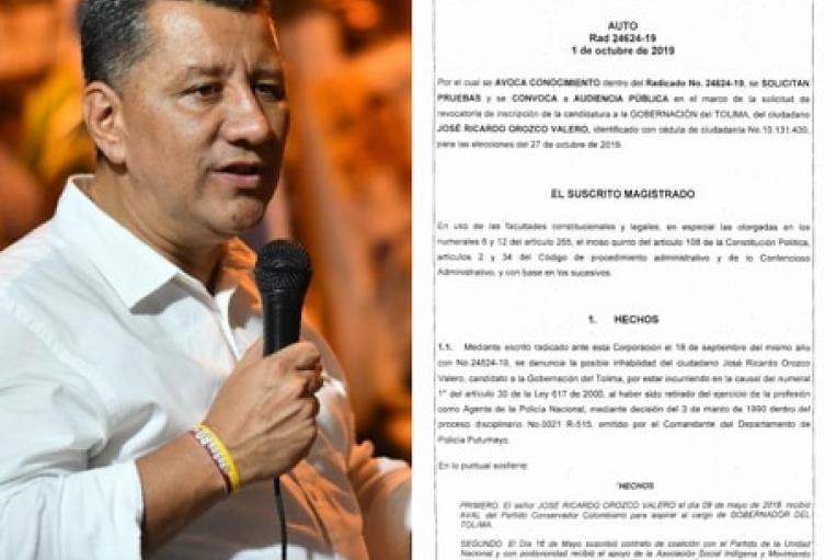 La audiencia pública que definirá la candidatura de Orozco, se llevará acabo este martes a las 5 de la tarde