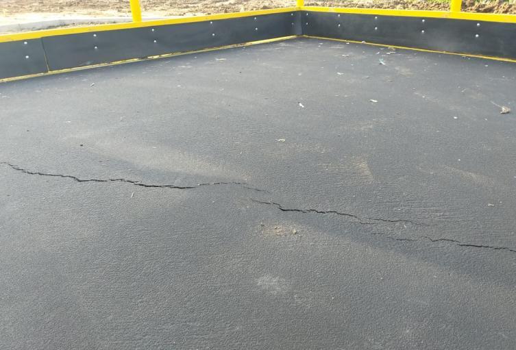 Fisuras presenta la pista de patinaje que recien fue inaugurada por parte de la Alcaldía de Ibagué