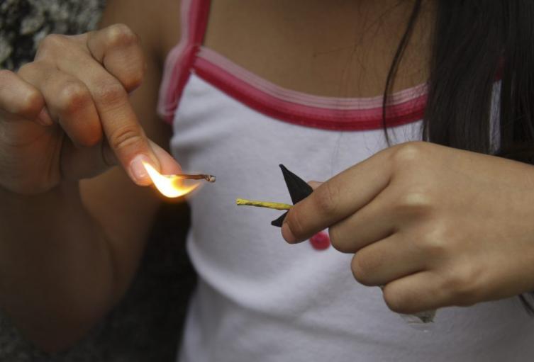 Menor quemada
