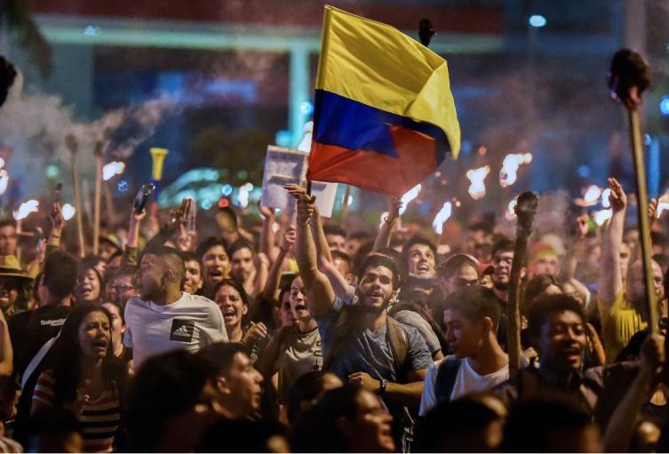 Manifestaciones y marchas en Bogotá en medio del paro nacional.
