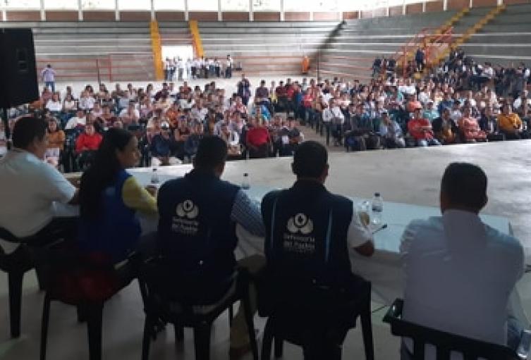 La mesa de víctimas departamental quedó integrada por 28 personas