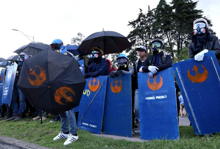 Primera línea de Escudos Azules en Bogotá