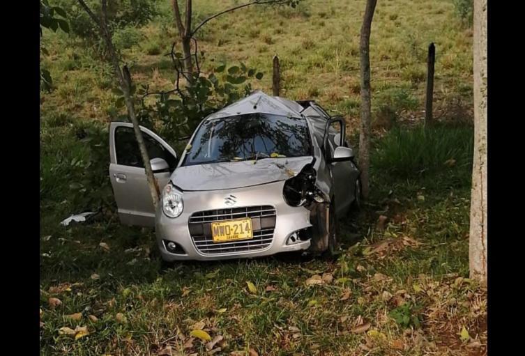 Accidente en la vía Ibagué - Espinal