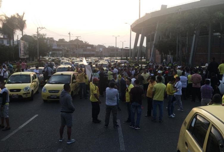 Taxistas de Ibagué.