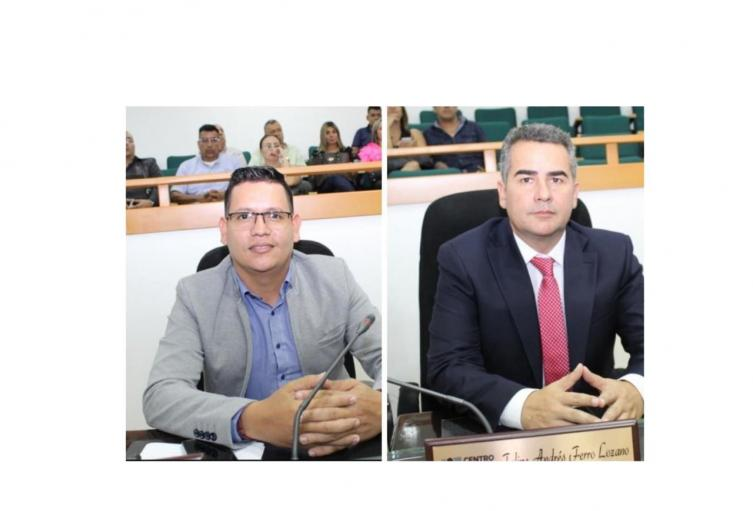 Diputados Carlos Ñustes y Felipe Ferro