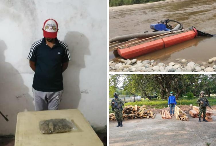 Resultados militares en el sur del Tolima