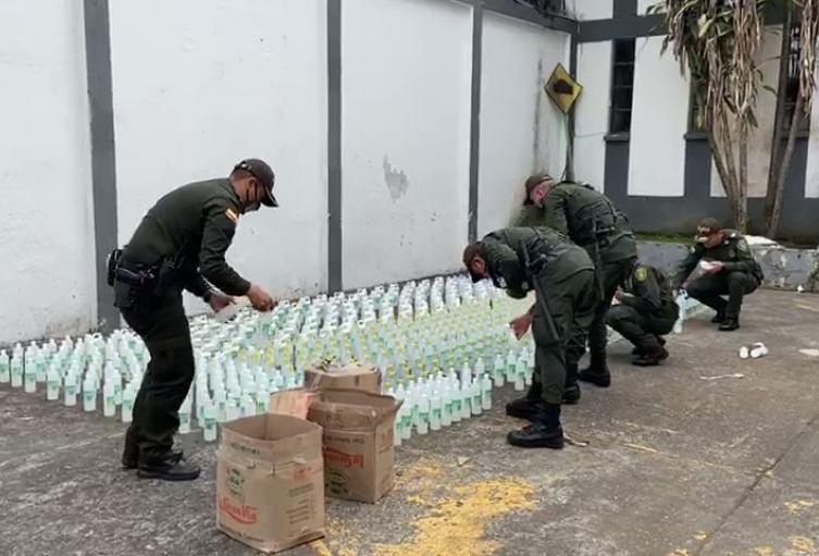 Incautan Alcohol en el Tolima