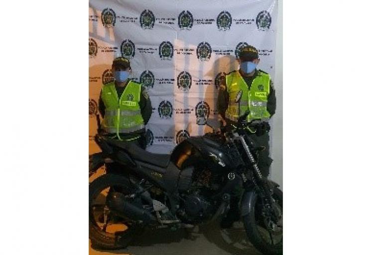 Moto recuperada en Ibagué