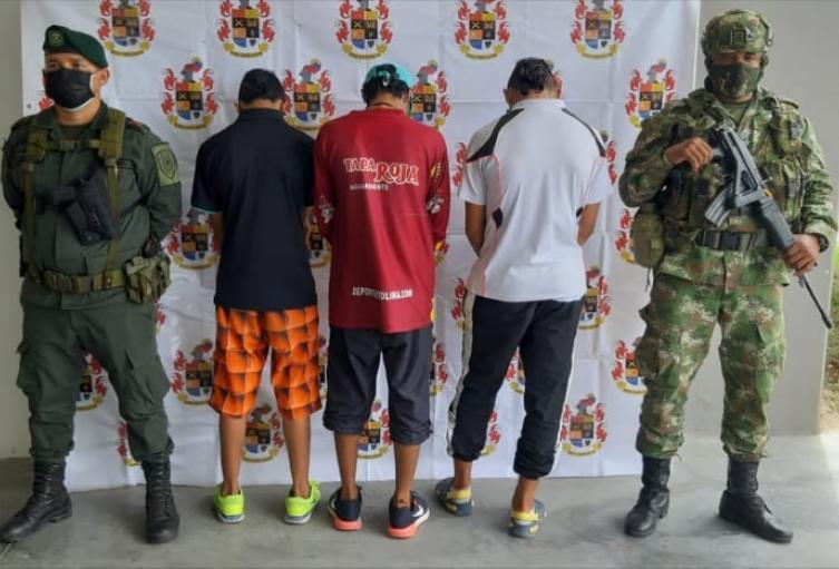 Las capturas se lograron después de una persecución hasta una residencia del barrio Modelia de Ibagué