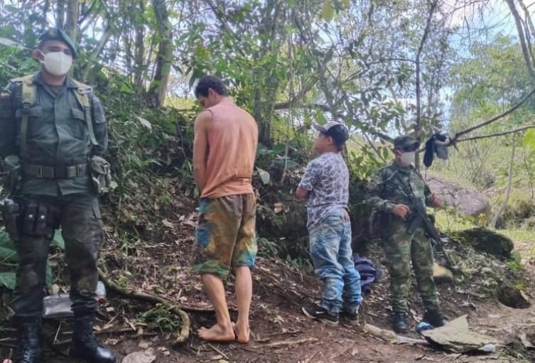 Los dos capturados fueron dejados a disposición de la Fiscalía 36 seccional de Fresno