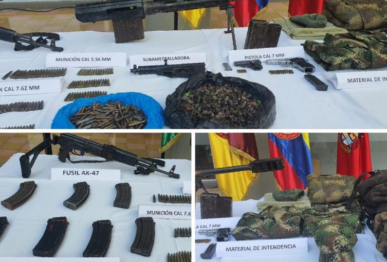 Incautan armas en Ibagué