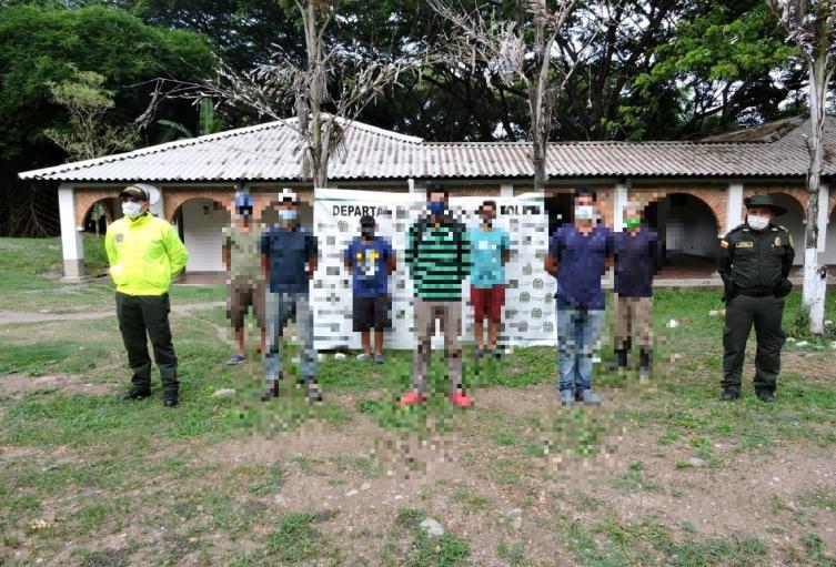 Detenidos por minería Ibagué