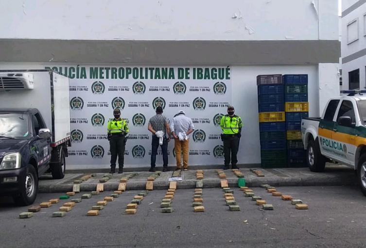 Drogas incautadas en Ibagué