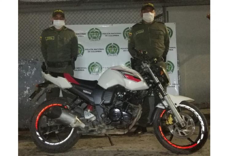 Moto recuperada en el Tolima