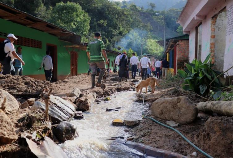 En el sector de Riomanso, hay un número aproximado de 68 derrumbes
