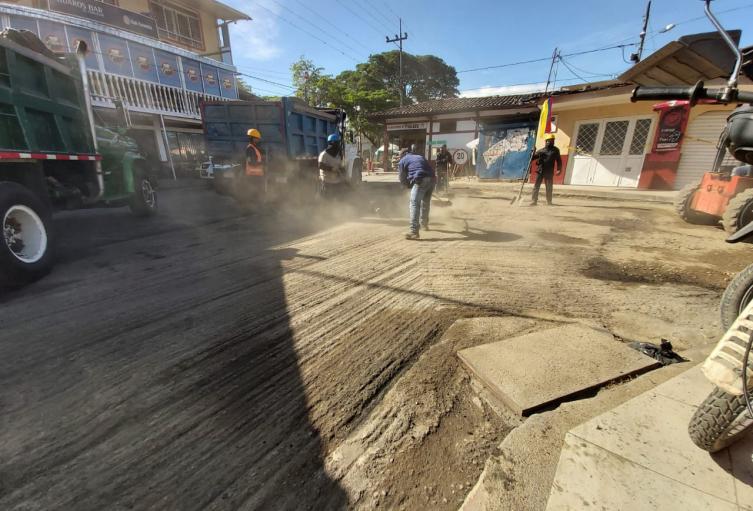 Vía principal barrio El Salado
